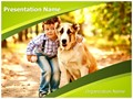 Playing With Dog Editable PowerPoint Template