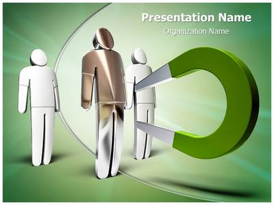 Magnet attracting Editable PowerPoint Template