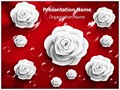 Paper White Rose Editable PowerPoint Template
