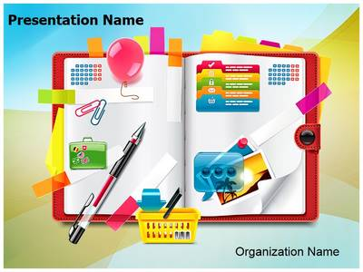 Personal Organizer Planning Editable PowerPoint Template