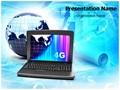 Computer Globe Editable PowerPoint Template