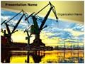 Shipyard Monumental Cranes Editable PowerPoint Template