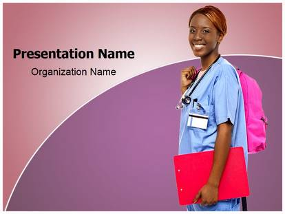 Free Nursing Education Medical Powerpoint Template For