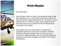 Attack helicopter Editable PowerPoint Template
