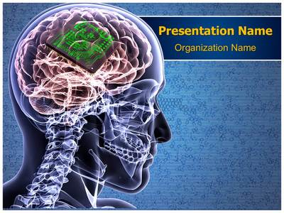 Brain Biochip Editable PowerPoint Template
