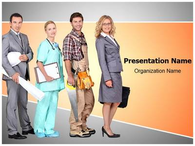 Different Occupations Editable PowerPoint Template
