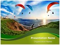 Paragliding Training Editable PowerPoint Template