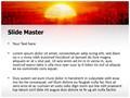 Sunrise Tree Editable PowerPoint Template