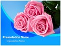 Pink Rose Editable PowerPoint Template