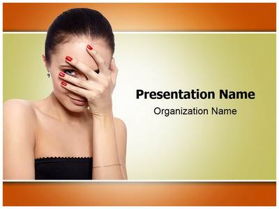 Shy Woman Editable PowerPoint Template