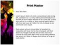 Rock Concert Abstract Editable PowerPoint Template