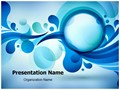 Blue Bubble Abstract Editable PowerPoint Template