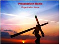 Jesus Christ Crucifixion Editable PowerPoint Template