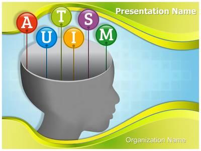 Autism Head Editable PowerPoint Template