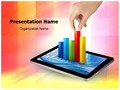 Tablet with graph Editable PowerPoint Template