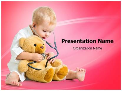 Free kid playing doctor medical powerpoint template for medical kid playing doctor powerpoint template toneelgroepblik Gallery