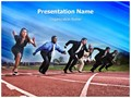 Business Race Editable PowerPoint Template