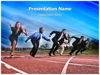 Business Race Editable PowerPoint Template