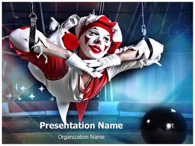 Circus Acrobat Editable PowerPoint Template