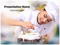 Chef Baking Cake Editable PowerPoint Template