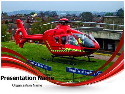 Free Medical Services Air Ambulance Medical PowerPoint Template for ...