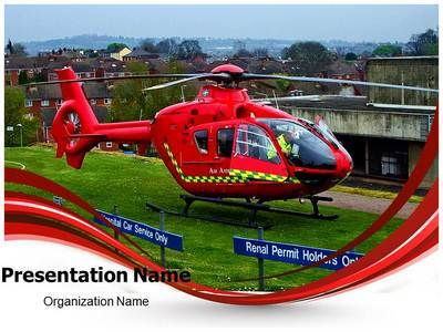 Medical Services Air Ambulance Editable PowerPoint Template