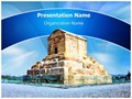 Cyrus Tomb Iran Editable PowerPoint Template