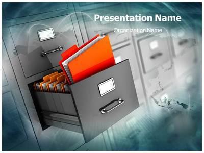 Document Management Editable PowerPoint Template