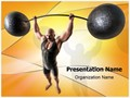 Muscular Man Editable PowerPoint Template