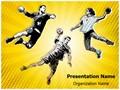 Handball Sports Player Editable PowerPoint Template