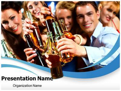 Drink Party Editable PowerPoint Template