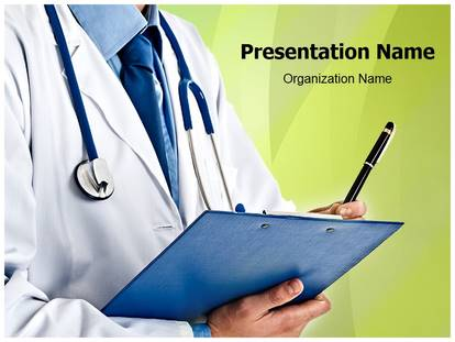 Free Doctor Prescription Medical Powerpoint Template For