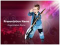 Child Rock Artist Editable PowerPoint Template