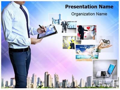 Hytech Businessman Editable PowerPoint Template