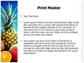 Fresh Fruits and Beach Editable PowerPoint Template