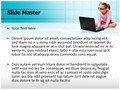 Kid Using Laptop Editable PowerPoint Template