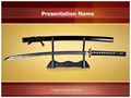 Japanese Samurai Sword Editable PowerPoint Template