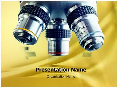 Free Laboratory Microscope Medical Powerpoint Template For Medical