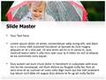 Child In Rain Editable PowerPoint Template
