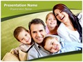 Smiling Family Editable PowerPoint Template