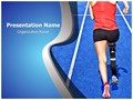 Handicap Athlete Editable PowerPoint Template
