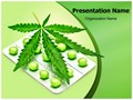 Cannabis Sativa Editable PowerPoint Template