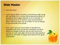 Cube orange Editable PowerPoint Template