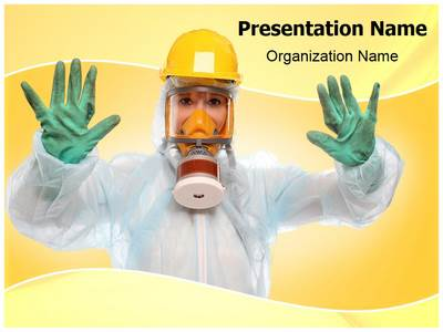 Bio-hazard Suit Editable PowerPoint Template