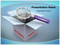 3d magnifier Editable PowerPoint Template