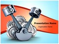 Pistons and gears Editable PowerPoint Template