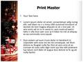 Christmas decoration Editable PowerPoint Template