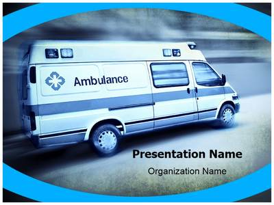 Emergency Ambulance Editable PowerPoint Template