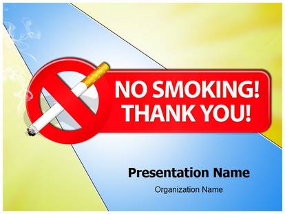Free No Smoking Thank You Medical Powerpoint Template For Medical