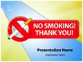 No smoking Thank You Editable PowerPoint Template